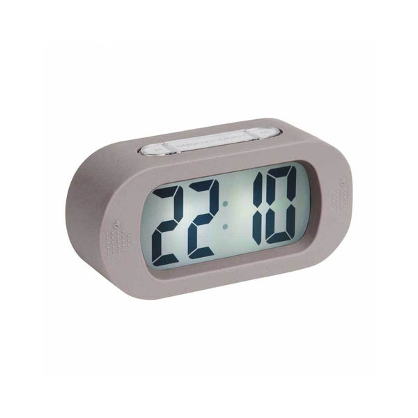Gummy Digital Alarm Clock - Warm Grey