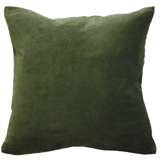 Majestic Velvet/Linen Cushion Khaki