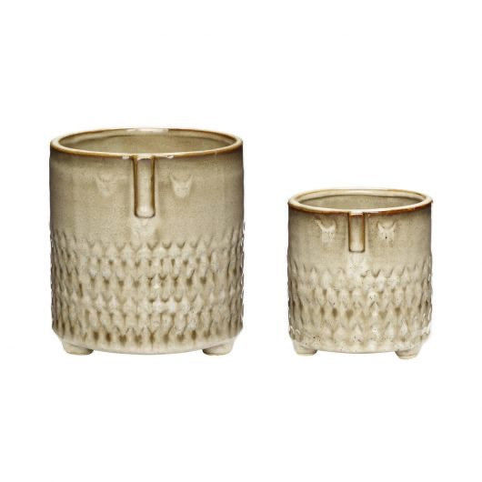Face Pot - beige - choose from 2 sizes