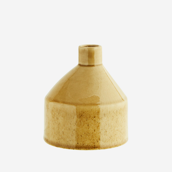 LIGHT YELLOW STONEWARE VASE