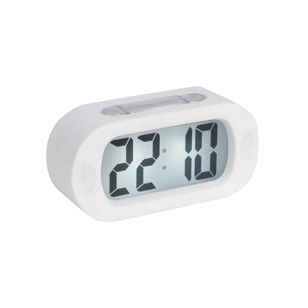 Gummy Digital Alarm Clock - White