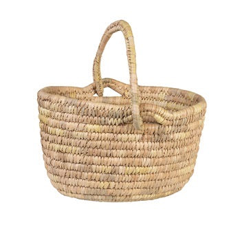 HANS GRASS OVAL SHOPPING BASKET NATURAL
