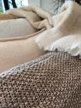 Milford Moss Stitch Cushion - Bracken