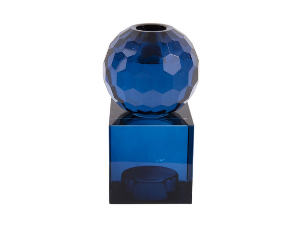 Candle holder Art ball blue M