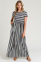 'TIME TO SPARE' STRIPED MAXI