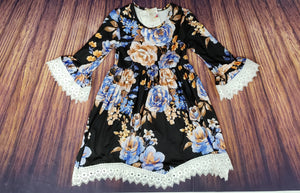 KK BLACK FLOWER DRESS