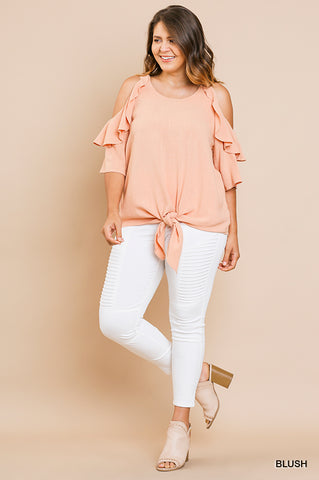 'SOMETHING ABOUT HER' RUFFLE TOP