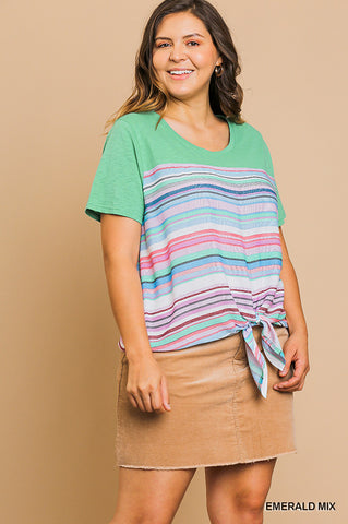 'AFTERNOON CRUSH' STRIPED TOP