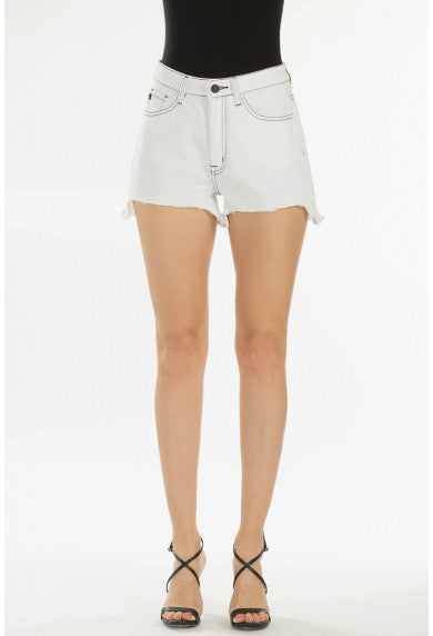 SUGAR & SASS WHITE DENIM SHORTS