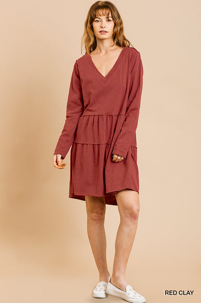 LYRD RUFFLE HEM DRESS
