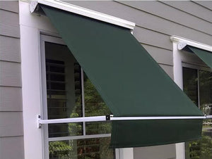 DM500 Aluminum Folding Drop Arm Window Awning For Window Shelter