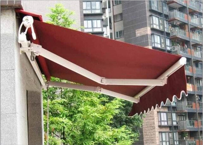 Motorized retractable caravan awnings sliding awning steel ...