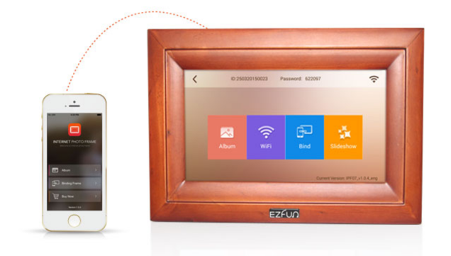 Easy-to-use Touch Screen Digital Photo Frame