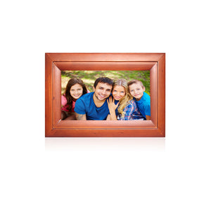 "Digital Photo Frame 10"" Wood Finish"