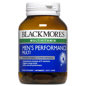 Blackmores Men's Performance Multi Tablets Qty 100