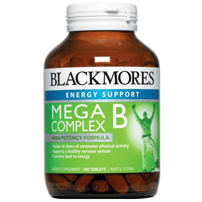 Blackmores Mega B Complex Tablets Qty 200