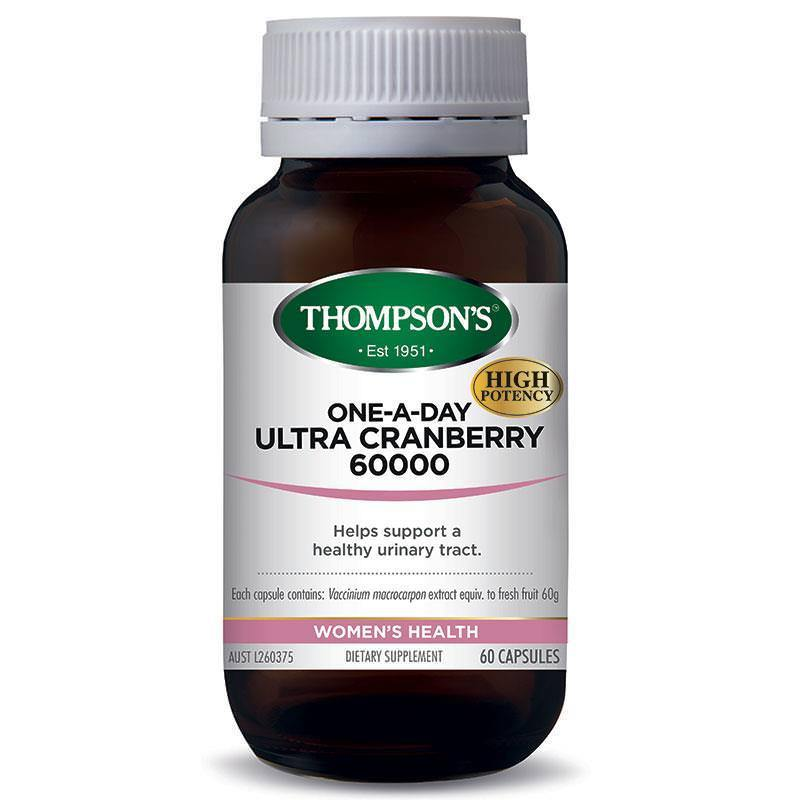 Thompson's Ultra Cranberry 60000g Capsules Qty 60