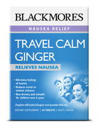 Blackmores Travel Calm Ginger Tablets Qty 45