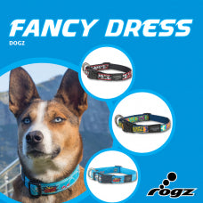 ROGZ Fancy Dress (Patterned) Collars & Leads