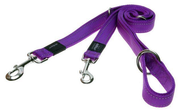 Rogz Multi-Lead Purple Med