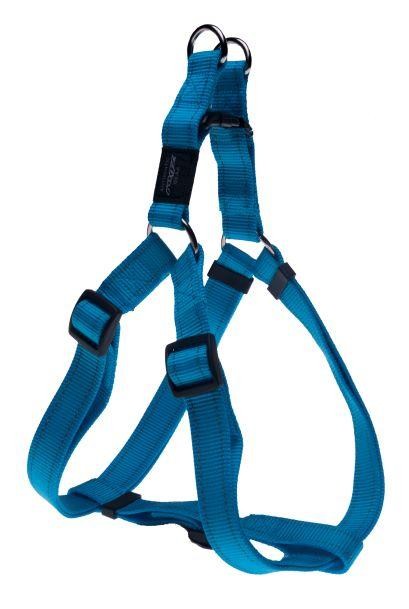 Rogz Step-In-Harness Turquoise Lge