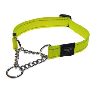 Rogz Obed Collar Collar Dayglow Yellow Med