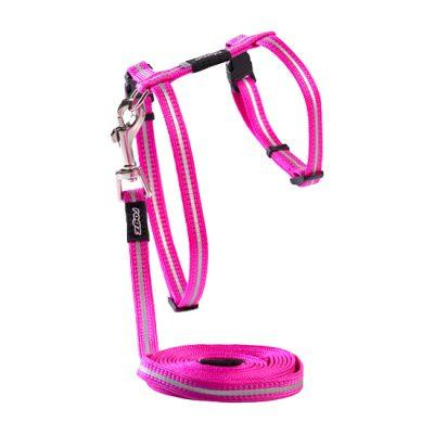 Alleycat Harness & Lead Set Pink 8mm