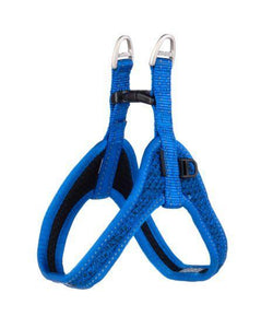 Rogz Fast Fit Harness Blue Med