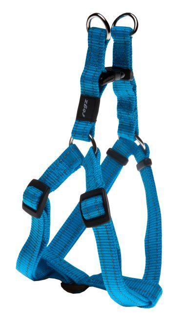 Rogz Step-In-Harness Turquoise Med