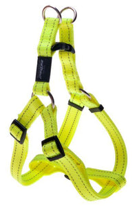 Rogz Step-In-Harness Dayglow Yellow Lge