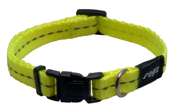 Rogz Classic Collar Dayglow Yellow Small