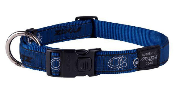 Rogz Fancy Dress Collar Navy Zen XL