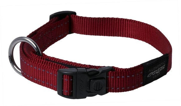 Rogz Classic Collar Red Med