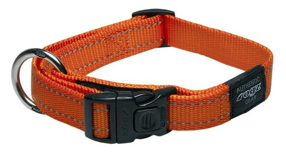 Rogz Classic Collar Orange Lge