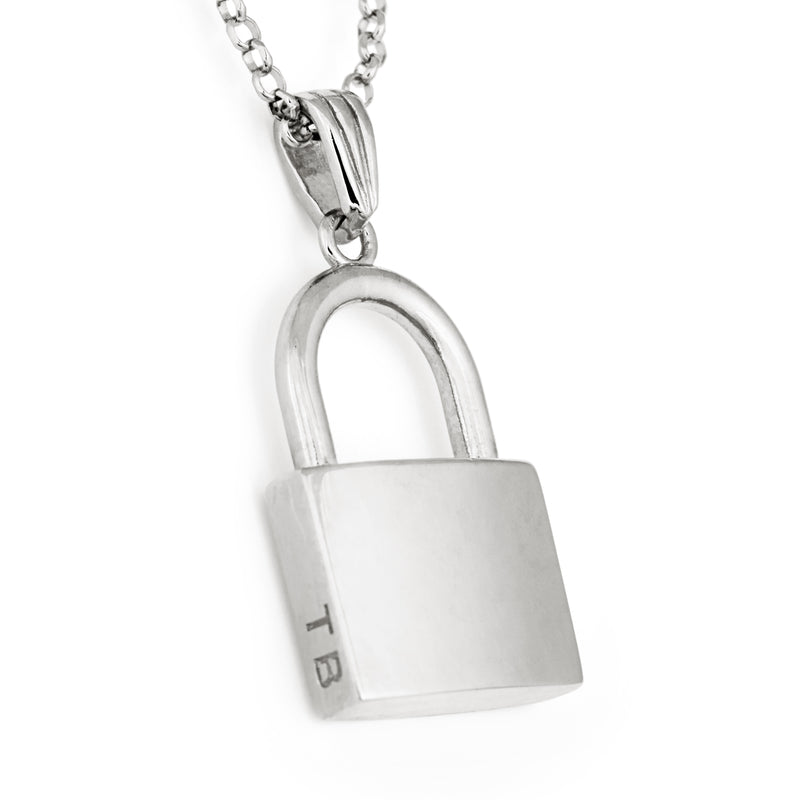 Lock Pendant in Silver