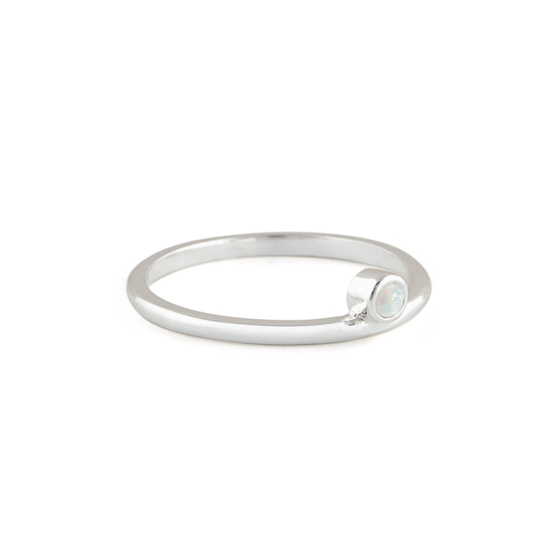 Olive Ring in Silver