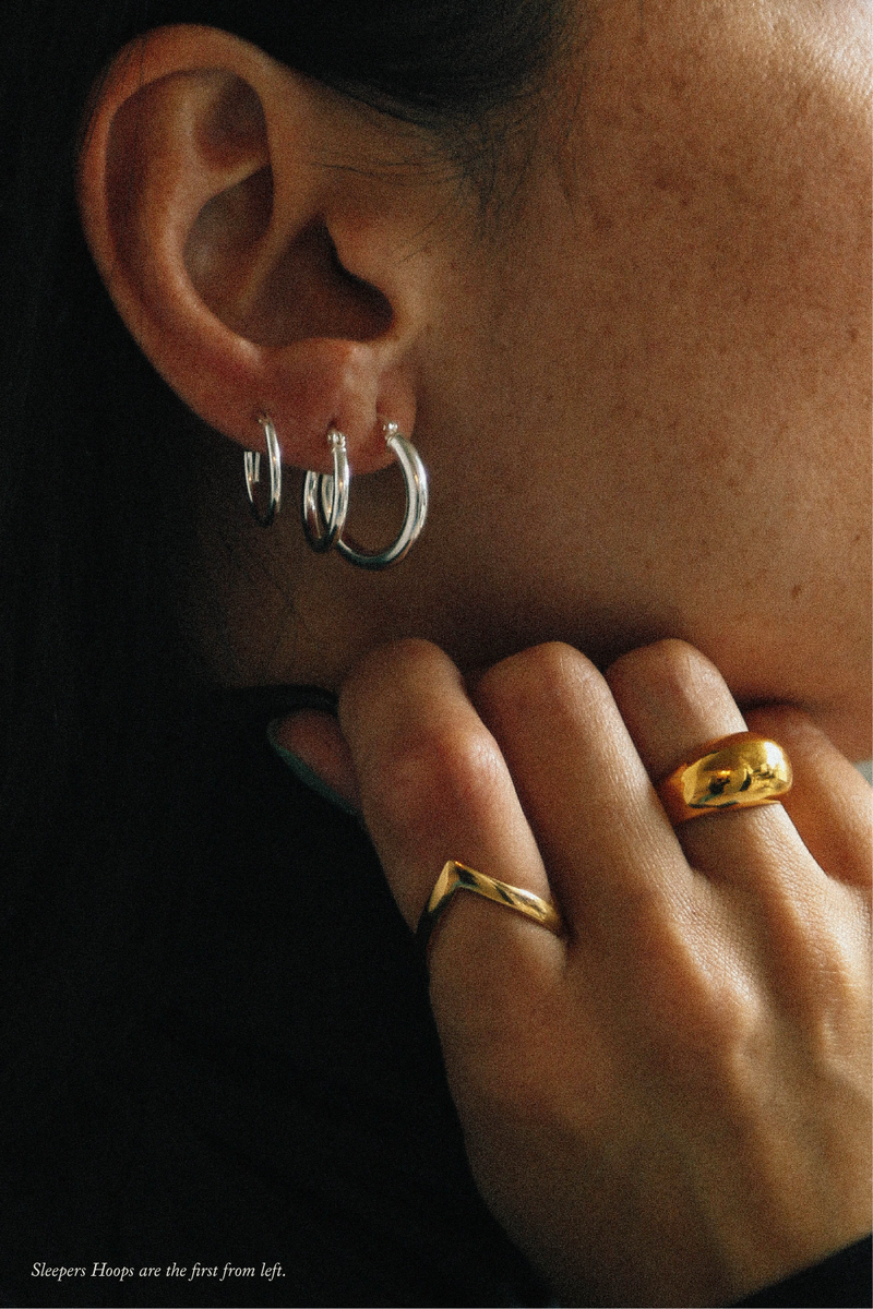 Sleepers Hoops Earrings in Silver