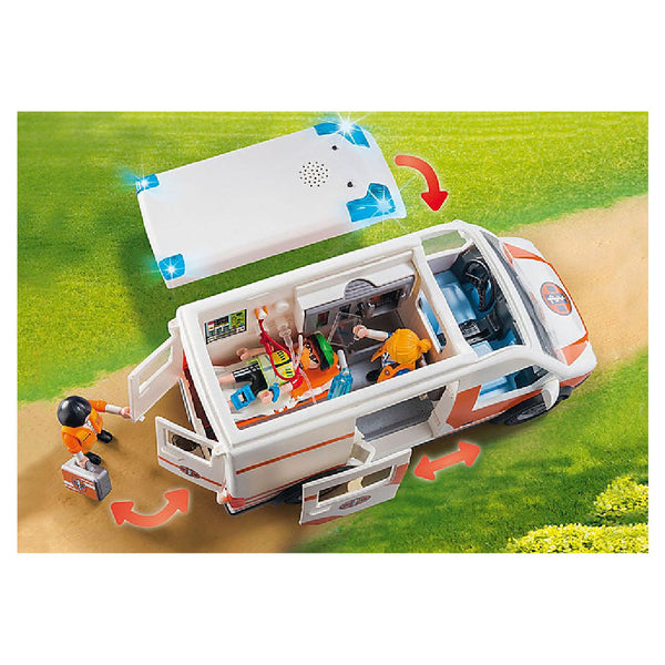 Playmobil City Life Rescue - Ambulance with Flashing Lights | Toy Galeria Singapore