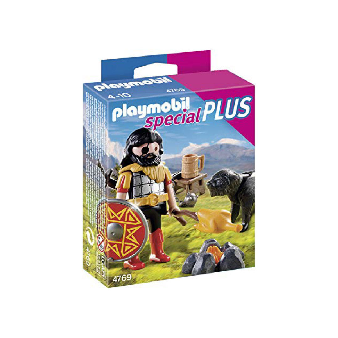 Playmobil Special PLUS - Barbarian with Dog at Campfire | Toy Galeria Singapore