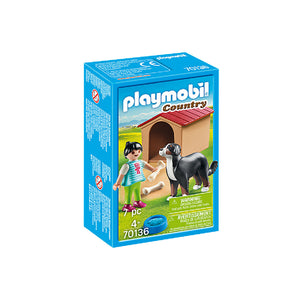 Playmobil Country Farm - Dog with Kennel | Toy Galeria Singapore