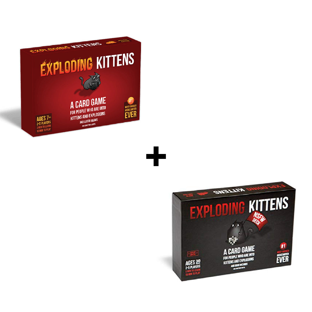 Exploding Kittens and Exploding Kittens NSFW | Toy Galeria Singapore