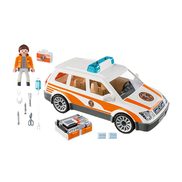 Playmobil City Life Rescue - Emergency Car with Siren | Toy Galeria Singapore