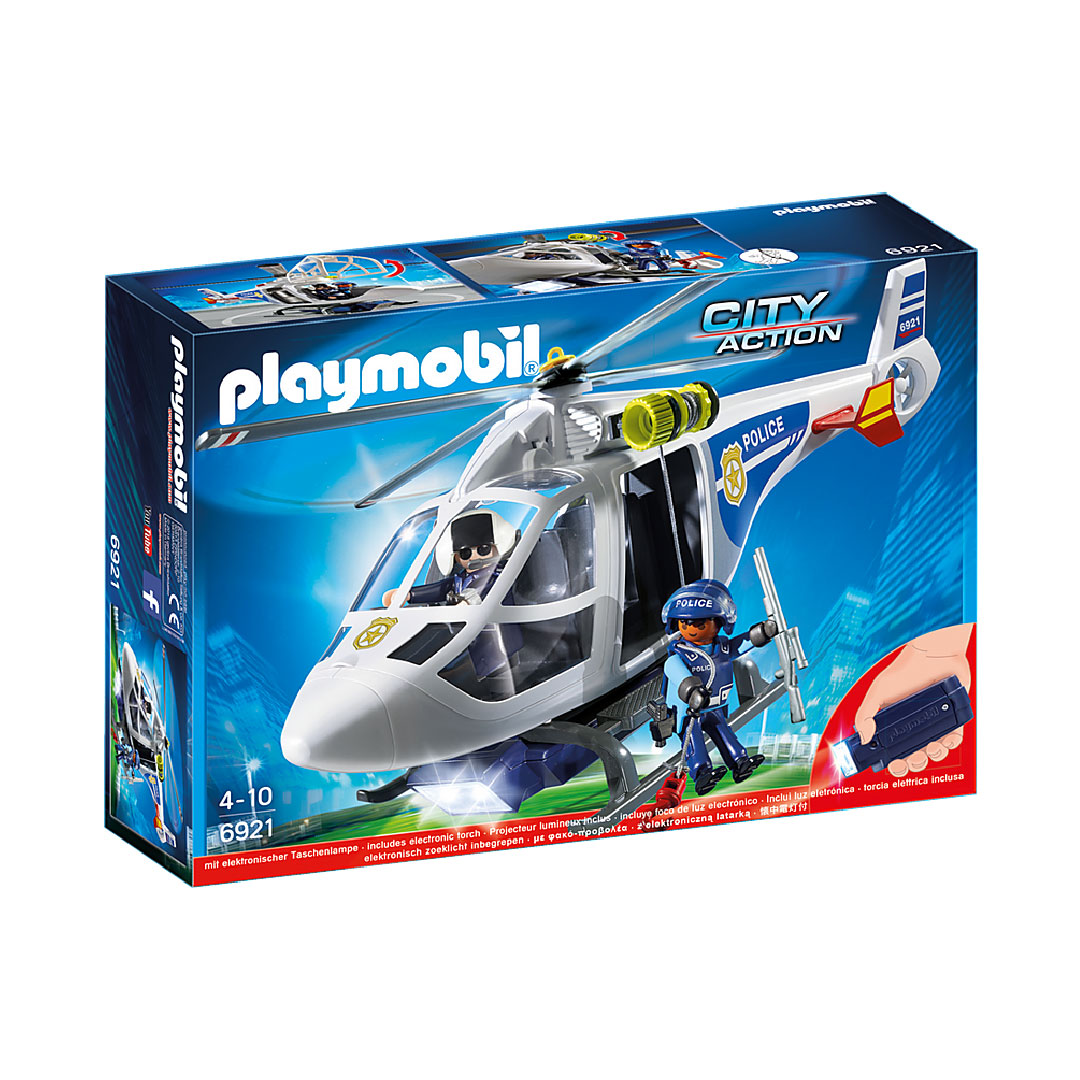 Playmobil City Action - Police Helicopter with LED Searchlight | Toy Galeria Singapore