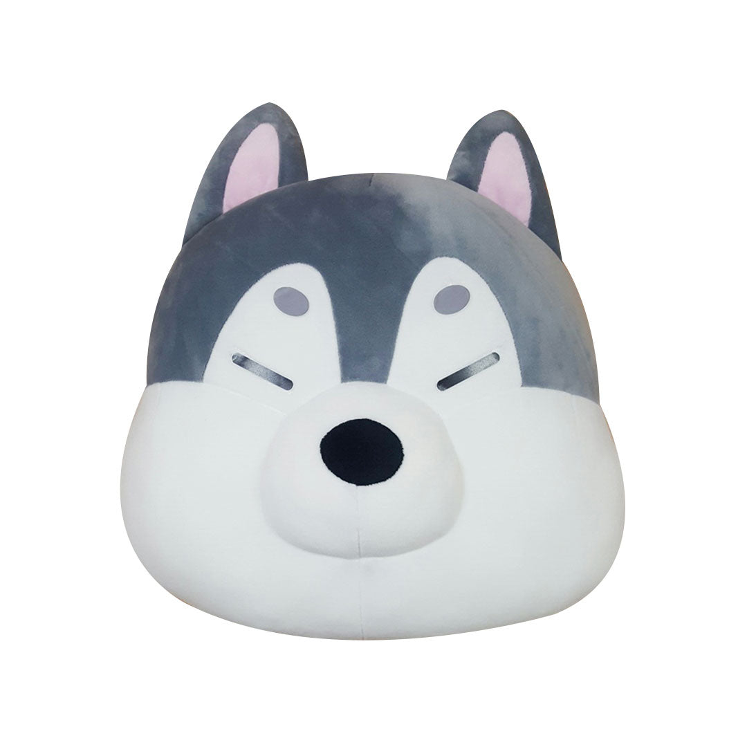 Mochi Town Husky Face Cushion 40cm | Toy Galeria Singapore