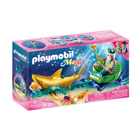 Playmobil Magic Mermaid World - King of the Sea with Shark Carriage | Toy Galeria Singapore