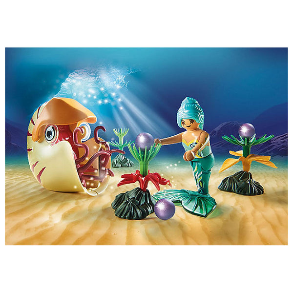 Playmobil Magic Mermaid World - Mermaid with Sea Snail Gondola | Toy Galeria Singapore