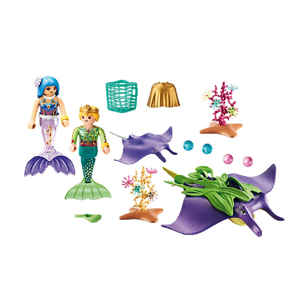 Playmobil Magic Mermaid World - Pearl Collectors with Manta Ray | Toy Galeria Singapore