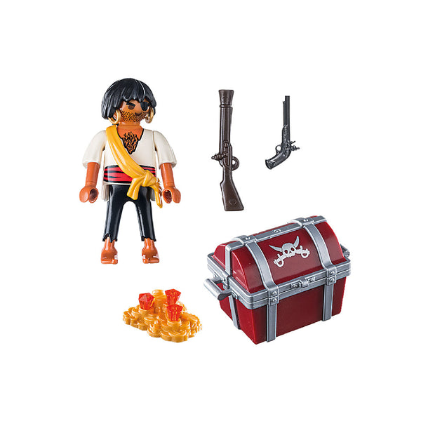 Playmobil Special PLUS - Pirate with Treasure Chest | Toy Galeria Singapore