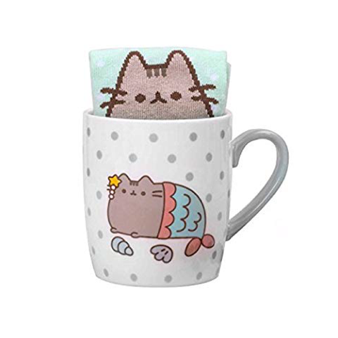 Pusheen Sock in a mug Mermaid Singapore