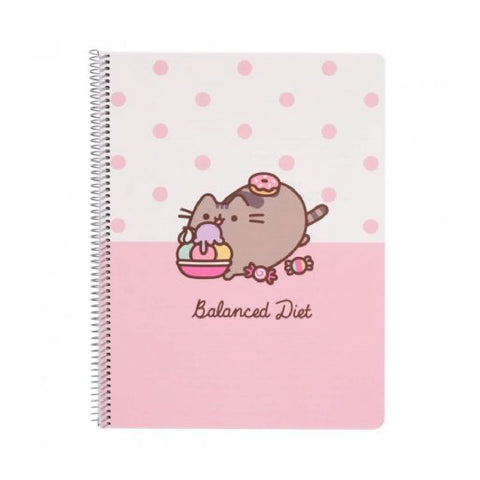 Erik Pusheen Notebook Balanced Diet Polypropylene Cover A4 Rose Collection | Toy Galeria Singapore